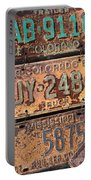 Rusted Plates Portable Battery Charger