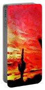 Saguaro Sunset  Portable Battery Charger