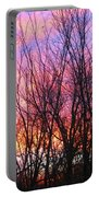 Red Sky In Morning Portable Battery Charger