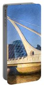 Samuel Beckett Bridge Dublin Portable Battery Charger