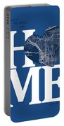 San Diego Street Map Home Heart - San Diego California Road Map  Portable Battery Charger