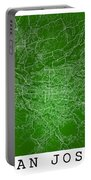 San Jose Street Map - San Jose Costa Rica Road Map Art On Colore Portable Battery Charger