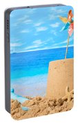 Sandcastle On Beach Portable Battery Charger
