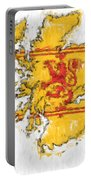 Scotland Painted Flag Map Portable Battery Charger