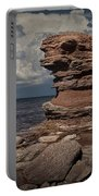 Sea Stack At North Cape On Prince Edward Island Portable Battery Charger