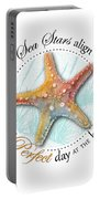 Sea Stars Align For A Perfect Day At The Beach Portable Battery Charger
