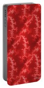 Seamless Fractal Red Portable Battery Charger