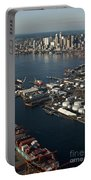 Seattle Skyline And South Industrial Area Portable Battery Charger