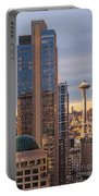 Seattle Space Needle Golden Sunset Light Portable Battery Charger