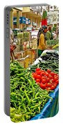 Selling Fresh Vegetables In Antalya Market-turkey Portable Battery Charger