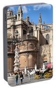 Seville Cathedral In The Old Town Portable Battery Charger
