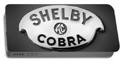 Shelby Ac Cobra Emblem -0282bw Portable Battery Charger