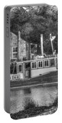Shem Creek In Black And White Portable Battery Charger