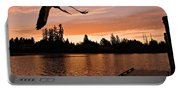 Silver Lake Sunset Portable Battery Charger