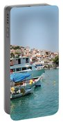 Skopelos Harbour Greece Portable Battery Charger