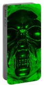 Skull In Green Portable Battery Charger