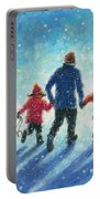 Sledding With Dad Portable Battery Charger