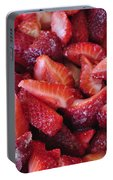 Sliced Strawberries Portable Battery Charger