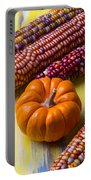 Small Pumpkin And Indian Corn Portable Battery Charger