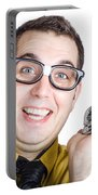Smiling Man With Bell Portable Battery Charger