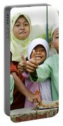 Smiling Muslim Children In Bali Indonesia Portable Battery Charger