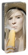 Smoking Hot Corn Cob Woman Portable Battery Charger