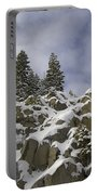 Snow Covered Cliffs And Trees Portable Battery Charger