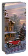 Snow Streets Portable Battery Charger by Dominic Davison