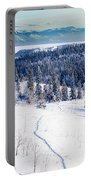 Snowshoe Taiga Trail Landscape Yukon T Canada Portable Battery Charger