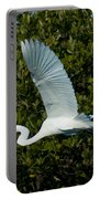 Soaring Snowy Egret Portable Battery Charger