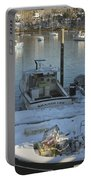 South Bristol And Fishing Boats On The Coast Of Maine Portable Battery Charger by Keith Webber Jr
