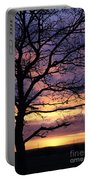 Spectacular Sunset Epsom Downs Surrey Uk Portable Battery Charger