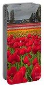 Springtime Tulip Field Art Prints Portable Battery Charger