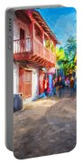St George Street St Augustine Florida Painted Portable Battery Charger