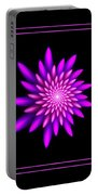 Starburst-32 Framed Black And Pink Portable Battery Charger
