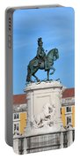 Statue Of King Jose I In Lisbon Portable Battery Charger