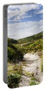 Strahan Coast Landscape Winding To The Ocean Portable Battery Charger