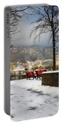 Street With Snow Portable Battery Charger