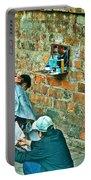 Streetside Barbershop In Hanoi-vietnam  Portable Battery Charger