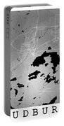 Sudbury Street Map - Sudbury Canada Road Map Art On Colored Back Portable Battery Charger