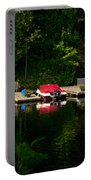 Summer Morning On Muskoka River Portable Battery Charger