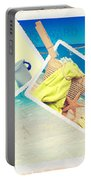 Summer Postcards Portable Battery Charger by Amanda Elwell