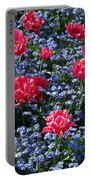 Sun-drenched Flowerbed Portable Battery Charger