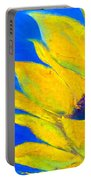 Sunflower In Blue Portable Battery Charger