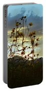 Sunflowers At Sunset Portable Battery Charger
