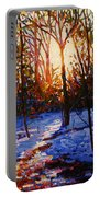 Sunset On Snow Portable Battery Charger