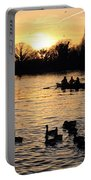 Sunset On The Thames At Walton Portable Battery Charger