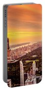 Sunset Over Central Park And The New York City Skyline Portable Battery Charger
