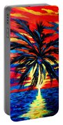 Sunset Palm Portable Battery Charger