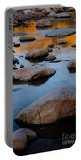 Sunset Reflected In Stream, Arizona Portable Battery Charger